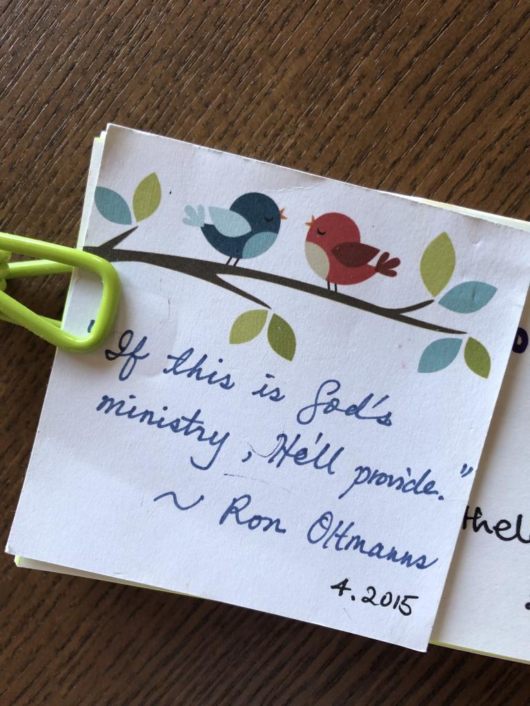 God will provide (Ron)